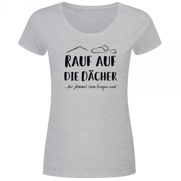 T-Shirt Frauen Abenteuerlust - Rauf auf die Dächer