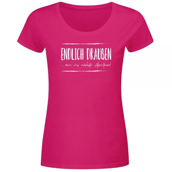 T-Shirt Frauen Abenteuerlust - Endlich draußen