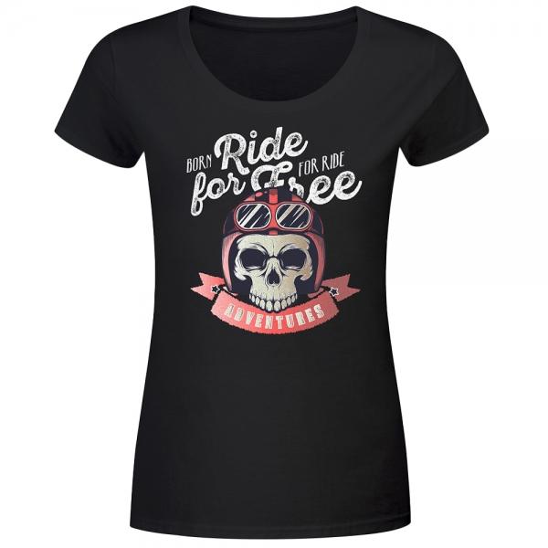 T-Shirt Frauen Born for ride