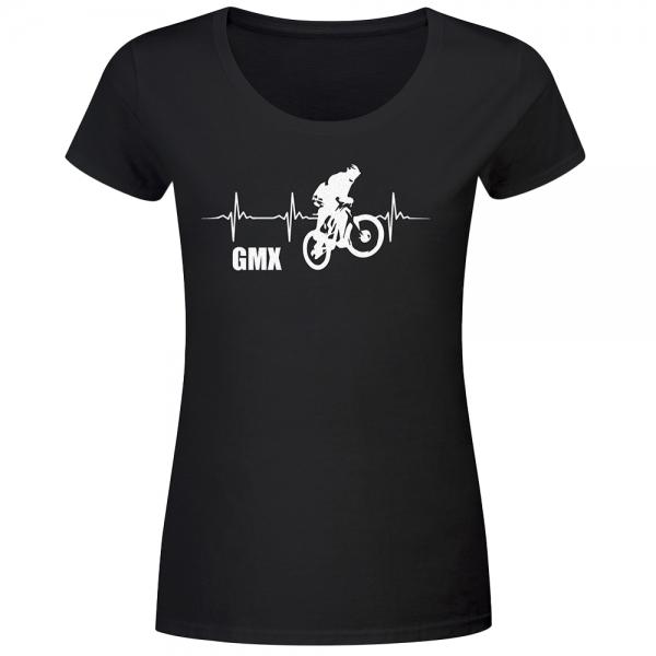 T-Shirt Frauen Herzschlag GMX-Biker