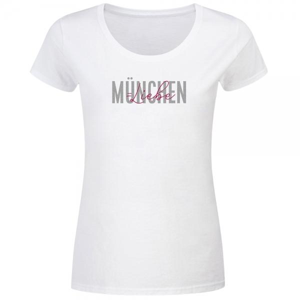 T-Shirt Frauen München Liebe