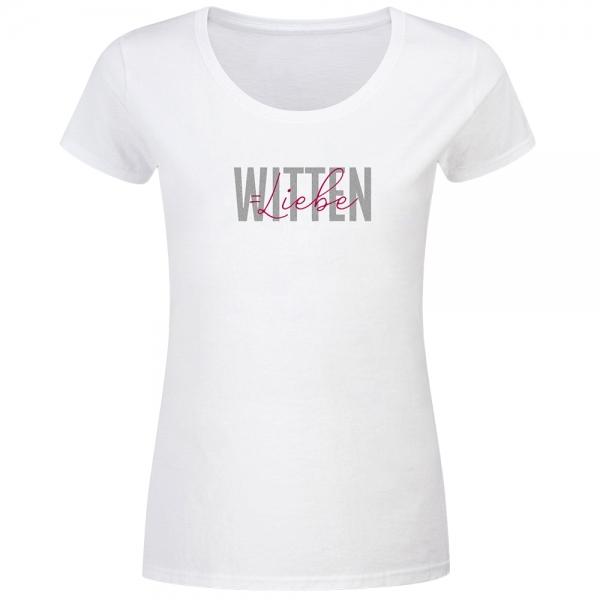T-Shirt Frauen Witten Liebe