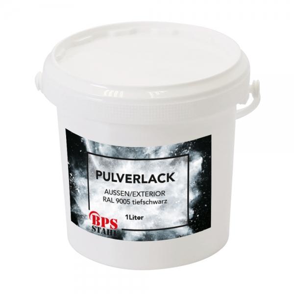 Pulverlack 1L RAL 9005 tiefschwarz matt